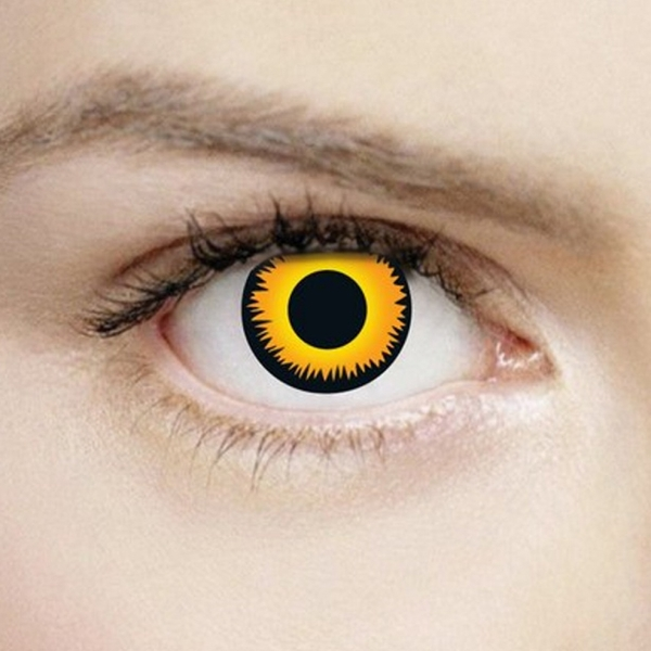 Orange Werewolf 1 Day Halloween Coloured Contact Lenses (MesmerEyez XtremeEyez) - Image 1
