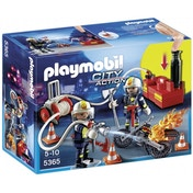 Ex-Display Playmobil City Action Fire Brigade Firefighters with Water Pump Used - Like New