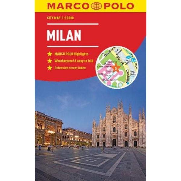 Milan Marco Polo City Map - pocket size, easy fold, Milan street map  Paperback / softback 2018
