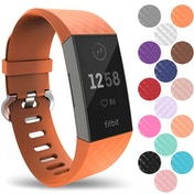 YouSave Fitbit Charge 3 Silicone Strap - Large - Orange