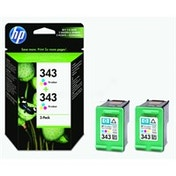 HP CB332EE (343) Printhead color, 330 pages, 7ml, Pack qty 2