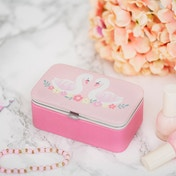 Sass & Belle Freya Swan Mini Travel Jewellery Box