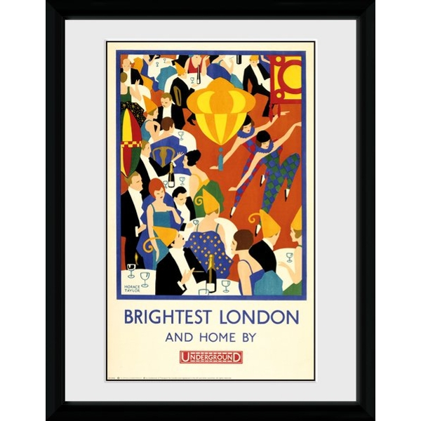 "Transport For London Brightest London 2 12"" x 16"" Framed Collector Print"