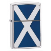 Zippo Scotland Flag Emblem Brushed Chrome Windproof Lighter