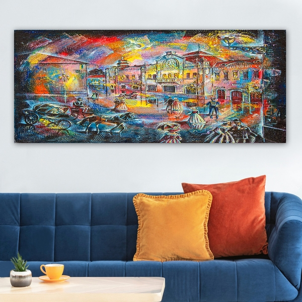 YTY2206521390_50120 Multicolor Decorative Canvas Painting