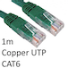 RJ45 (M) to RJ45 (M) CAT6 1m Green OEM Moulded Boot Copper UTP Network Cable - Image 2