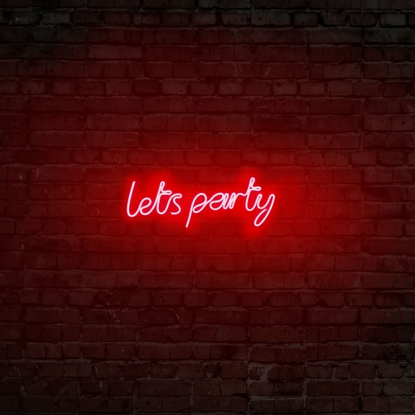 Lets Party - Red Red Wall Lamp