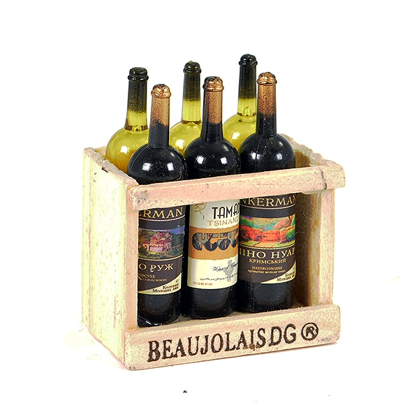 Fastrax Scale Wood Crate W/Wine Bottles