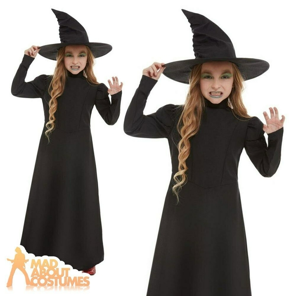Wicked Witch Girl Costume Large (Black)