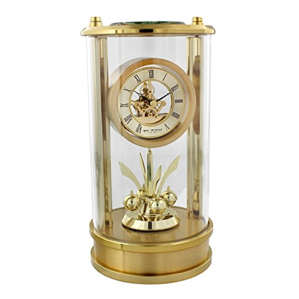 Gold Mantel Clock with Skeleton Movement