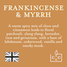 Frankincense & Myrrh (Superstars Collection) Wax Melt - Image 3