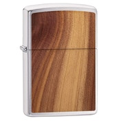 Zippo Woodchuck Cedar Emblem Chrome Regular Windproof Lighter