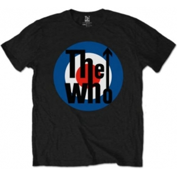 The Who Target Classic Black Mens TShirt Size: X Large