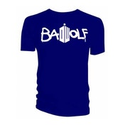 Doctor Who - Bad Wolf Men's Small T-Shirt - Navy Blue
