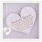 Said with Sentiment Square Heart Frames Someone Special