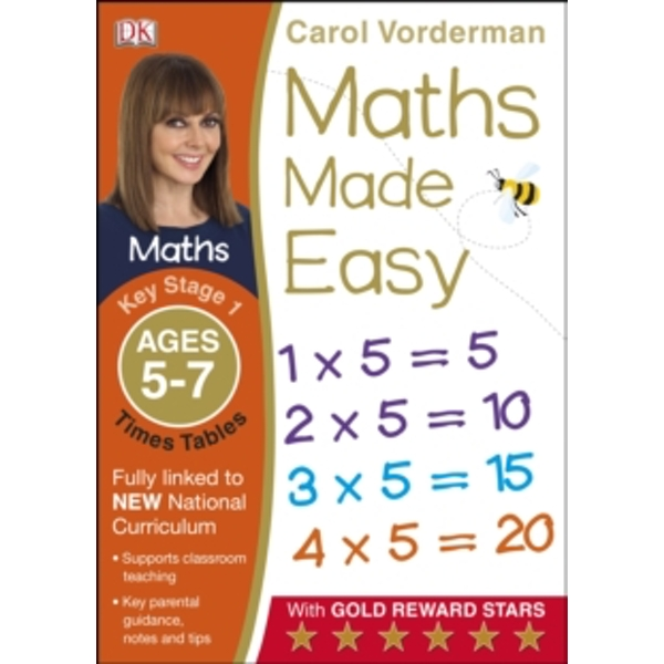 Maths Made Easy Times Tables Ages 5-7 Key Stage 1 by Carol Vorderman (Paperback, 2014)