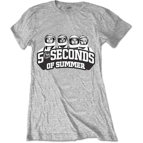 5 Seconds of Summer - Spaced Out Crew Women's Large T-Shirt - Grey