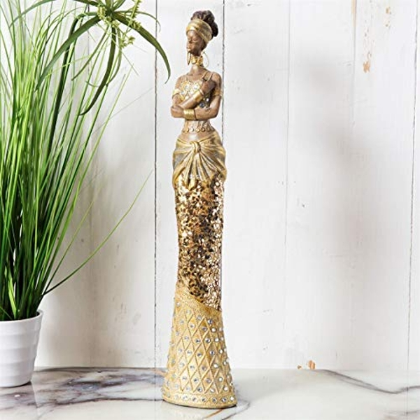Hestia Gold Collection - Lady Standing Figurine 40cm