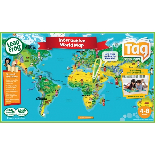 Leapfrog tag world map activity board shop4se leapfrog tag world map activity board gumiabroncs Image collections