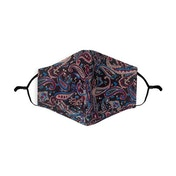 Navy/Red Paisley Pattern Printed 100% Cotton Face Mask