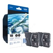 Brother LC-985BKBP2 Ink cartridge black, 300 pages, 9ml, Pack qty 2