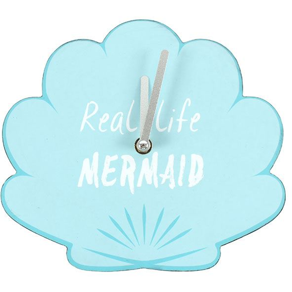 Real Life Mermaid Shell Clock