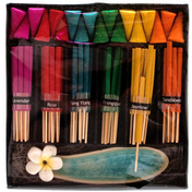 Rainbow Incense Cone and Stick Gift Set