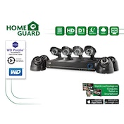 Homeguard HG8KIT4 4C1T 1TB WD Purple 8 Ch 4 4 Cam (600TVL) with HD Out