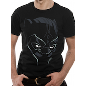 Black Panther Movie - Comic Face Men's Large T-Shirt - Black