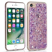 Caseflex iPhone 7 Tinfoil Soft Case - Purple