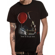 It - Pennywise Red Balloon Men's Large T-Shirt - Blck