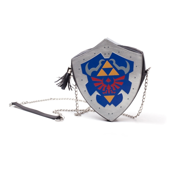 Nintendo - Hylian Shield Women's Shaped Shoulder Bag - Multi-Colour
