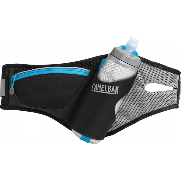 Camelbak Delaney Hydration Waistpack with 620ml Podium Chill Black and Atomic Blue