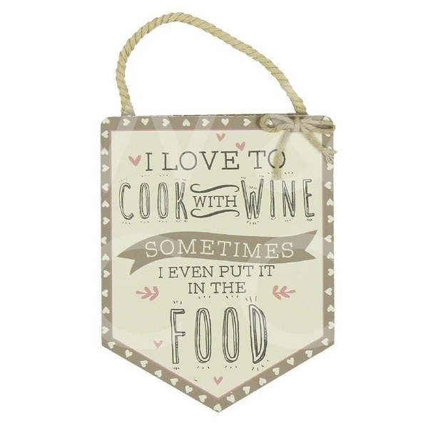 Love Life Cook With Wine Pendant Plaque