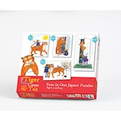 The Tiger Who Came to Tea - 4-in-1 Jigsaw Puzzle