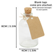 Set of 12 Mini 50ml Glass Bottles | Includes Decorative labels | M&W - Image 4