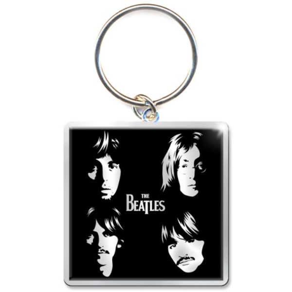 The Beatles - Illustrated Faces Keychain