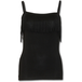 Urban Fashion Tassel Layered Camsole Women's Small Sleeveless Top - Black - Image 2