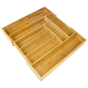 Bamboo Extending Cutlery Drawer Tray | M&W