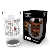 Five Nights At Freddys Fazbear Large Glass