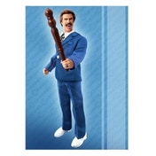 Anchorman 8-Inch Retro-Style Battle Ready Ron Burgundy Action Figure