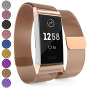 YouSave Fitbit Charge 3 Milanese Metal Strap - Rose Gold