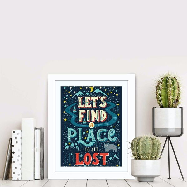 BCT-043 Multicolor Decorative Framed MDF Painting