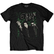Green Day - Green Lean Men's Small T-Shirt - Black