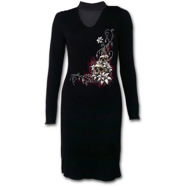 Blood Tears Women's XX-Large Neck Band Elegant Dress - Black