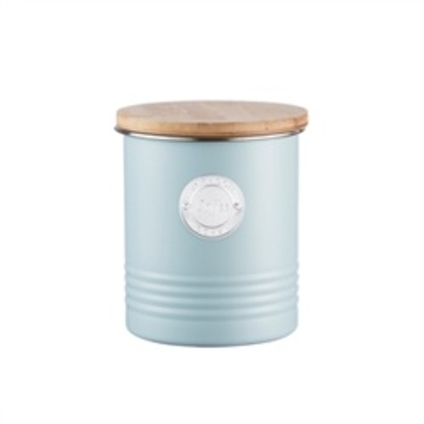 Typhoon 1 Litre Living Coffee Canister Steel Blue 11 x 11 x 15.5 cm