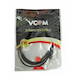VCOM 3.5mm (M) Stereo Jack to 3.5mm (F) Stereo Jack 3m Black Retail Packaged Cable - Image 2