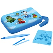 IMP Funkit5 Aero 5-in-1 XL Accessory Case Kit In Blue 3DS XL & DSi XL