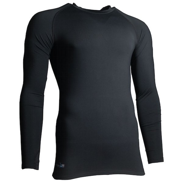 Precision Essential Base-Layer Long Sleeve Shirt Adult Black - Medium 38-40 Inch