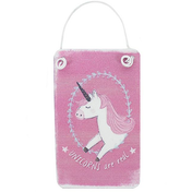 Mini Pink Unicorn Metal Sign Pack Of 12